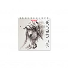 Альбом для эскизов. ErichKrause. 226 Wild Horse. 40 листов. На спирали. 170х170 мм