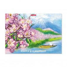 Альбом для рисования. ErichKrause. А4. 20 листов. На клею. Цветущая Япония