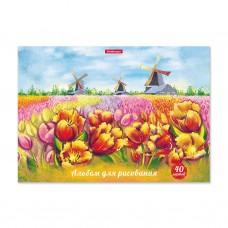 Альбом для рисования. ErichKrause. А4. 40 листов. На клею. Цветущая Голландия