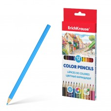 Цветные карандаши. ErichKrause. Шестигранные. 12 цветов