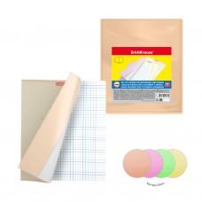 Набор пластиковых обложек. ErichKrause. Glossy Neon. Для тетрадей и дневников. 212х347мм. 150 мкм. 12 шт в пакете