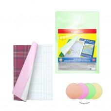 Набор пластиковых обложек. ErichKrause. Glossy Neon. Для контурных карт, атласов и тетрадей А4. 306х426мм. 150 мкм. 12 шт в пакете