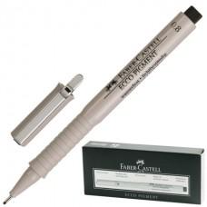 Капиллярная ручка Faber-Castell. Ecco Pigment. 0,8 мм. Черная