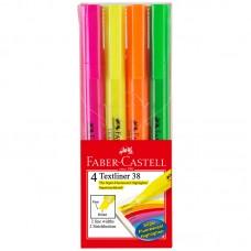 Набор текстовыделителей Faber-Castell 38. 1-5мм. 4 цвета