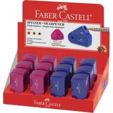 Точилка Faber-Castell. Sleeve мини. С 1 отверстием. Синяя или красная