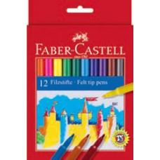 Фломастеры Faber-Castell. Замок. 12 цветов в картонной коробке
