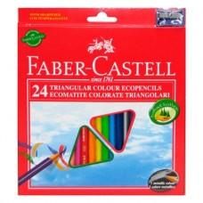 Цветные карандаши Faber-Castell. ECO Jumbo. 24 цвета в картонной коробке и точилка