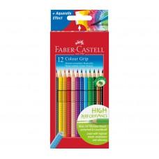 Цветные карандаши Faber-Castell. Grip. 12 цветов в картонной коробке