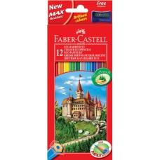 Цветные карандаши Faber-Castell. Замок. 12 цветов
