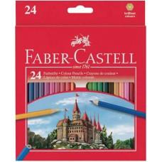 Цветные карандаши Faber-Castell. Замок. 24 цвета