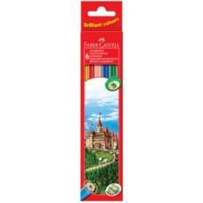 Цветные карандаши Faber-Castell. Замок. 6 цветов