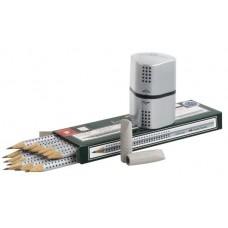 Чернографитный карандаш Faber-Castell. Grip 2001. В специальной промо упаковке. 12 карандашей + 2 ластика + точилка