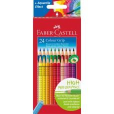 Цветные карандаши. Faber-Castell. Grip. С ластиком. 24 цвета