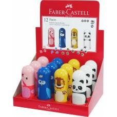 Точилка пластиковая с ластиком. Faber-Castell. Faces. 1 отверстие. Контейнер