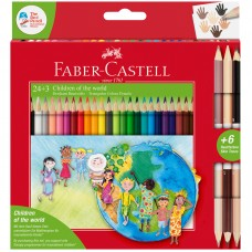 Карандаши цветные. Faber-Castell. Дети мира. 30 цветов. Трехгранные