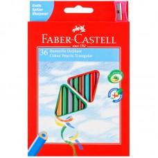 Карандаши цветные. Faber-Castell. 36 цветов. Трехгранные. С точилкой