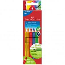 Карандаши цветные. Faber-Castell. Jumbo Grip. 6 цветов. Трехгранные
