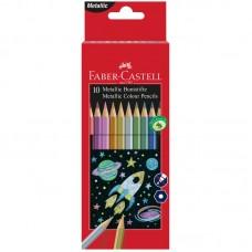 Карандаши цветные Faber-Castell. 10 цветов. Металлик