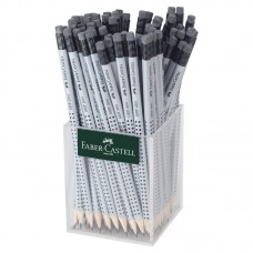 Чернографитный карандаш. Faber-Castell. Grip 2001. Трехгранный. С ластиком. HB