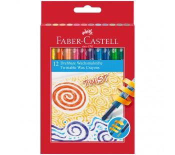 Карандаши восковые Faber-Castell, 12 цветов. Выкручивающийся стержень