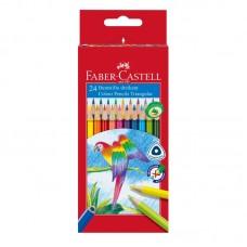 Карандаши цветные. Faber-Castell. Трехгранные. 24 цвета
