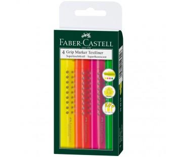 Набор текстовыделителей. Faber-Castell. Grip 1543. 1-5мм. 4 цвета