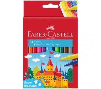 Фломастеры Faber-Castell. Замок. 24 цвета в картонной коробке