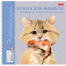 Альбом для рисования акварелью. Hatber. 20 листов. А5. На гребне. Рисуем