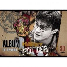 АЛЬБОМ для рисования Hatber 30л А4ф на скобе серия Гарри Поттер