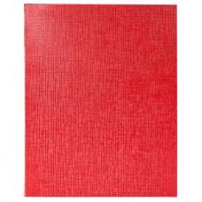 Тетрадь. 48 листов. А5. КЛЕТКА. На скобе. Hatber. Бумвинил. METALLIC. Красная