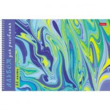 Альбом для рисования. Hatber. 32 листа. А4. На спирали. 5 дизайнов. Серия Эбру- Воздушные облака