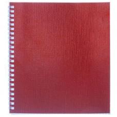 Тетрадь. 48 листов. А5. КЛЕТКА. На гребне. Hatber. Бумвинил. METALLIC. Красная