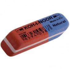 Ластик Koh-I-Noor. Blue Star 80. скошенный, комбинированный, натуральный каучук, 41*14*8мм