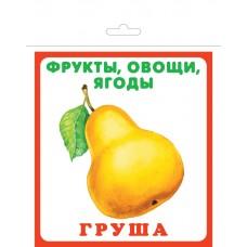 Фрукты, овощи, ягоды. 20 карточек с европодвесом