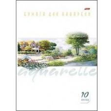 Набор бумаги для рисования Акварелью Hatber. А4. 10 листов. Пейзаж