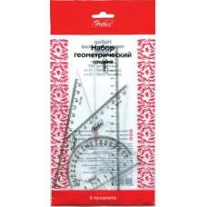Набор геометрический Hatber. Прозрачный. 4 предмета