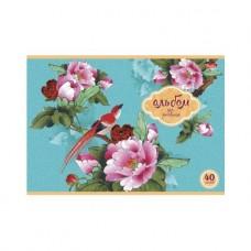 Альбом для рисования Hatber. 40 листов. А4. На скобе. Райский сад