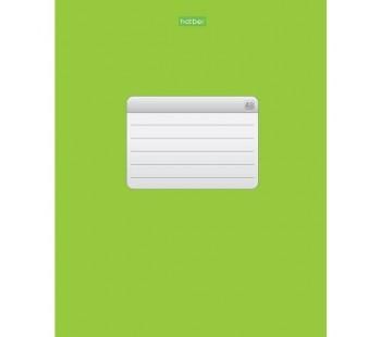 Тетрадь. 48 листов. КЛЕТКА. А5. Hatber. Зеленая