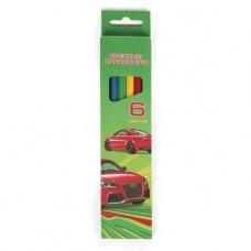 Карандаши цветные. Hatber. VK. Автопанорама . 6 цветов. С заточкой. В картонной коробке с европодвесом
