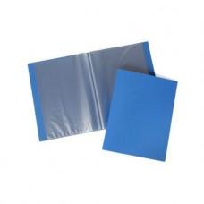 Папка Пластиковая. 60 вкладышей. 500мкм. Hatber LINE. Корешок 21 мм. Синяя