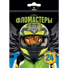Фломастеры. Hatber. VK. Moto-beast. В картонной коробке с европодвесом. 24 цвета