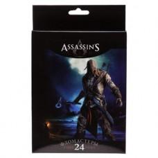 """Фломастеры. Hatber. VK. Assassin""""s creed. В картонной коробке с европодвесом. 24 цвета"""