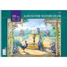 Альбом для рисования. Hatber. А3. 24 листа на пластиковой спирали. Райский сад