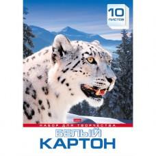 Белый картон. HATBER. А3. 10 листов.Снежный барс