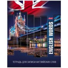 Тетрадь-словарик для записи английских слов. 48 листов. Мост