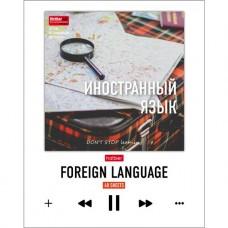 Тетрадь предметная. Иностранный язык. 48 листов. КЛЕТКА. А5. HATBER. Серия DO NOT STOP learning-Учись всегда!