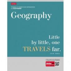 Тетрадь предметная. География. 48 листов. КЛЕТКА. А5. HATBER. Серия Цитаты