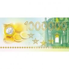 Открытка-конверт для денег. Hatber. 169х84мм. 3D Фольга. Миллион евро
