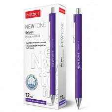Ручка гелевая автоматическая. Hatber. Newtone. 0,5мм. Цвет чернил фиолетовый