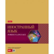Тетрадь предметная. Hatber. 48 листов. А5. С интерактивной справочной информацией. КЛЕТКА. Серия Gold Style. Иностранный язык
